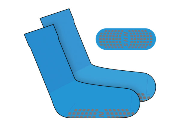 Step Sock Blue